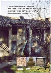 Architetture in terra a Macerata. Il quartiere di Villa Ficana. Analisi conoscitiva per il recupero