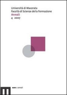 Ristorantezintonio.it Annali della Facoltà di scienze della formazione dell'Università di Macerata (2007). Con CD-ROM. Vol. 4 Image