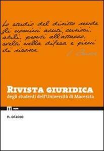 Rivista giuridica degli studenti dell'Università di Macerata