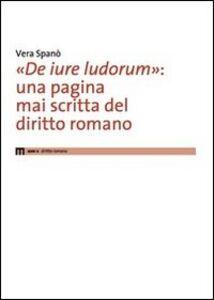 «De iure ludorum»: una pagina mai scritta del diritto romano
