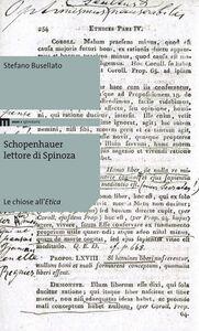 Schopenhauer lettore di Spinoza. Le choise all'Etica