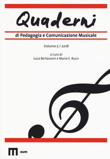 Voluntariadobaleares2014.es Quaderni di pedagogia e comunicazione musicale (2018). Vol. 5 Image