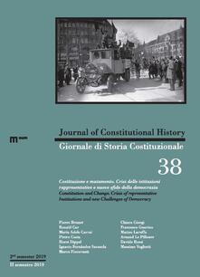Lpgcsostenible.es Giornale di storia Costituzionale (2019). Ediz. bilingue. Vol. 38: Costituzione e mutamento-Constitution and change. Image