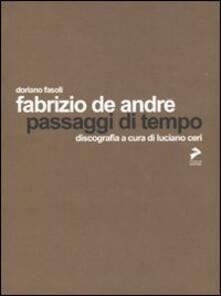 Fabrizio De André. Passaggi di tempo - Doriano Fasoli - copertina