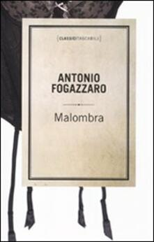 Malombra - Antonio Fogazzaro - copertina