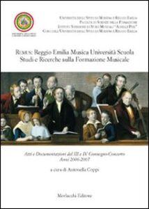 Remus. Reggio Emilia musica università scuola. Studi e ricerche sulla formazione musicale