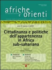 Recuperandoiltempo.it Afriche e Orienti (2012) vol. 3-4. Cittadinanza e politiche dell'appartenenza in Africa sub-sahariana Image