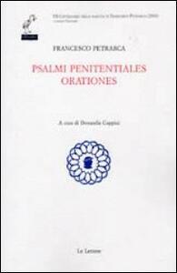 Salmi penitentiales orationes