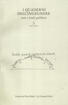 Camfeed.it I quaderni dell'ingegnere. Testi e studi gaddiani. Vol. 3 Image