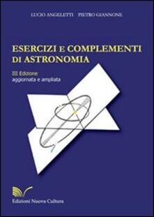 Vitalitart.it Esercizi e complementi di astronomia Image