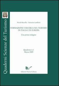 Formazione e ricerca sul turismo in Italia e in Europa
