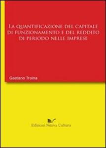 La quantificazione del capitale di funzionamento e del reddito di periodo nell'impresa