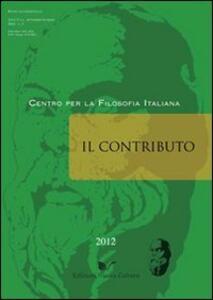 Il contributo (2012). Vol. 3