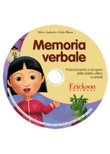 Steamcon.it Memoria verbale. Potenziamento e recupero delle abilità mnestiche uditive e verbali. CD-ROM Image