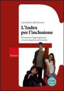 Milanospringparade.it L' Index per l'inclusione. Promuovere l'apprendimento e la partecipazione nella scuola Image