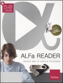 Vitalitart.it ALFa Reader Plus (KIT: libro, chiavetta USB e sintesi vocale). Ausilio per la lettura facilitata. Lettore vocale Image
