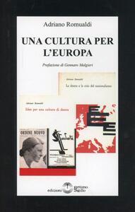 Una cultura per l'Europa - Adriano Romualdi - copertina