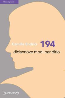 Associazionelabirinto.it 194. Diciannove modi per dirlo Image