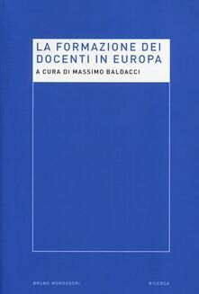 La formazione dei docenti in Europa - copertina