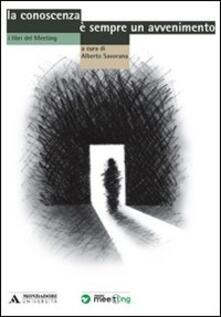 La conoscenza è sempre un avvenimento - Alberto Savorana - copertina