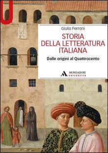 Winniearcher.com Storia della letteratura italiana. Dalle origini al Quattrocento Image