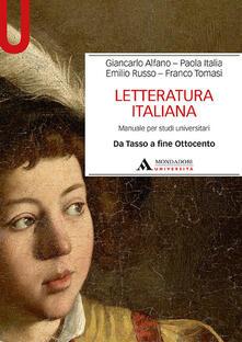 Ipabsantonioabatetrino.it Letteratura italiana. Manuale per studi universitari. Vol. 2: Da Tasso a fine Ottocento. Image