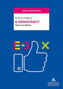 Rallydeicolliscaligeri.it E-democracy. Teorie e problemi Image