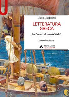 Winniearcher.com Letteratura greca. Da Omero al secolo VI d. C. Image