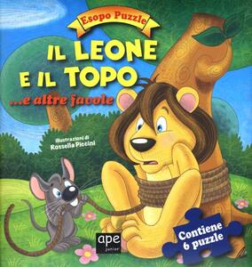 Il leone e il topo.. e altre favole. Esopo puzzle. Ediz. illustrata. Con 6 puzzle