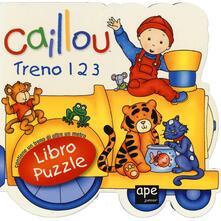 Mercatinidinataletorino.it Caillou. Treno 1 2 3. Libro puzzle Image