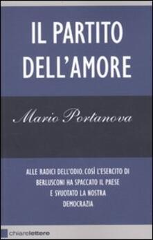 Il partito dell'amore - Mario Portanova - copertina