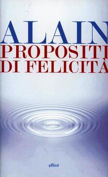 Propositi di felicità - Alain-Victor Christel - copertina