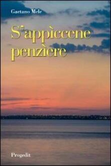 S'appìcene penzìere - Gaetano Mele - copertina