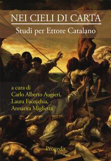 Nei cieli di carta. Studi per Ettore Catalano - copertina