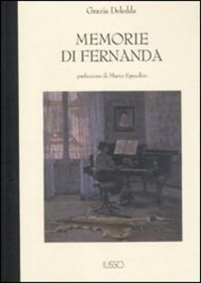 Memorie di Fernanda - Grazia Deledda - copertina
