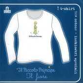 Idee regalo T-Shirt Piccolo Principe a maniche lunghe, donna, taglia S. Bianco. Il fiore Magazzini Salani
