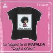 Idee regalo T-Shirt Mafalda a maniche corte, taglia S. Nero. Oggi mordo! Magazzini Salani