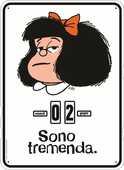 Cartoleria Calendario perpetuo 2017 Mafalda. Sono tremenda Magazzini Salani