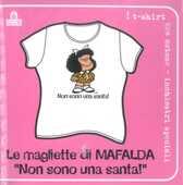 Idee regalo T-Shirt Mafalda a maniche corte, taglia M. Bianco. Non sono una santa! Magazzini Salani
