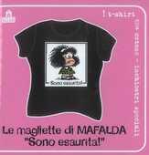 Idee regalo T-Shirt Mafalda a maniche corte, taglia S. Nero. Sono esaurita! Magazzini Salani
