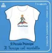 Idee regalo T-Shirt Piccolo Principe a maniche corte, donna, taglia M. Bianco. Il principe col mantello Magazzini Salani