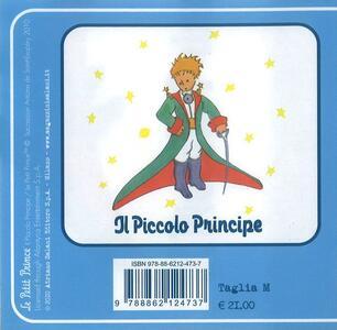 T-Shirt Piccolo Principe a maniche corte, donna, taglia M. Bianco. Il principe col mantello - 2