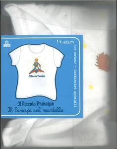 T-Shirt Piccolo Principe a maniche corte, donna, taglia M. Bianco. Il principe col mantello - 3
