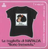 Idee regalo T-Shirt Mafalda a maniche corte, taglia M. Nero. Sono tremenda Magazzini Salani