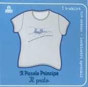 Idee regalo T-Shirt Piccolo Principe a maniche corte, taglia S. Grigio. Il prato Magazzini Salani