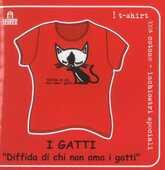Idee regalo T-Shirt Gatti a maniche corte, taglia S. Diffida di chi non ama i gatti. Rosso Magazzini Salani