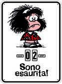 Cartoleria Calendario perpetuo 2017 Mafalda. Sono esaurita Magazzini Salani
