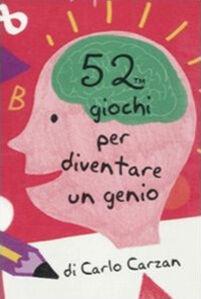 52 giochi per diventare un genio. Carte
