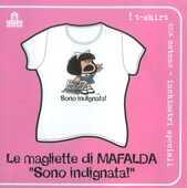 Idee regalo T-Shirt Mafalda a maniche corte, taglia M. Bianco. Sono indignata! Magazzini Salani
