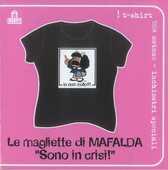 Idee regalo T-Shirt Mafalda a maniche corte, taglia S. Nero. Sono in crisi! Magazzini Salani